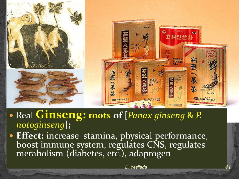 Real Ginseng: roots of [Panax ginseng & P. notoginseng];